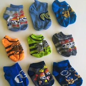 9 Paw Patrol ankle socks shoe size 7-10